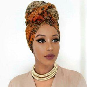 natural hair, headwrap turban style