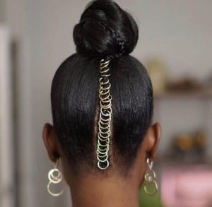 hair jewels upside back of head
