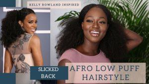 Kelly Rowland Slicked Back style