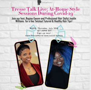 Tresse Talk Live Twistout Tutorial